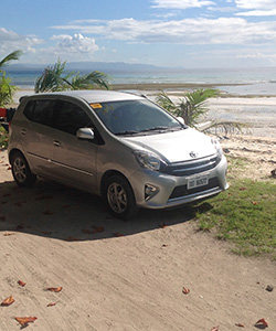 toyota wigo car for rent bohol